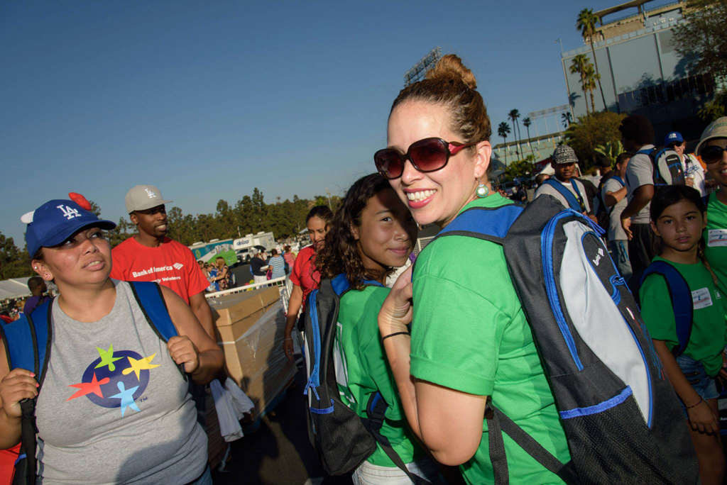 backpacks at back to school drive