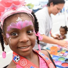 face paint at back to school drive